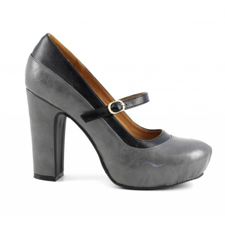 Decollete tacco largo Cafè Noir scarpe autunno inverno 2014 2015