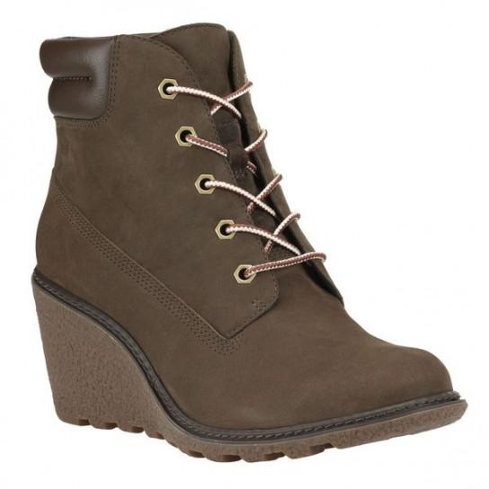 Polacchini marroni con zeppa Timberland scarpe autunno inverno 2014 2015 1