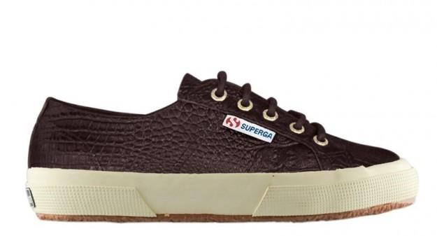 Sneakers croco bordeaux Superga scarpe autunno inverno 2014 2015
