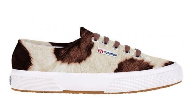 Sneakers effetto animalier Superga scarpe autunno inverno 2014 2015