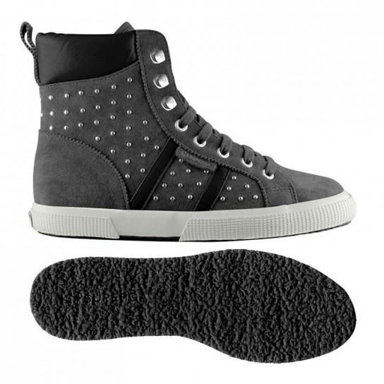 Sneakers grigie borchie Superga scarpe autunno inverno 2014 2015
