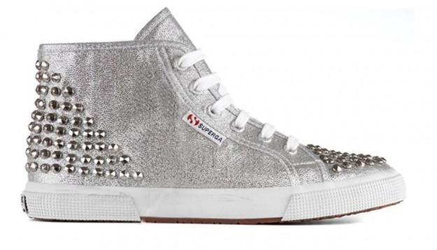 Sneakers grigie con borchie Superga scarpe autunno inverno 2014 2015