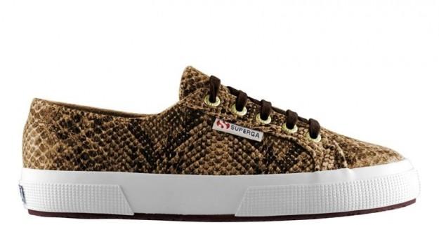 Sneakers in pitone oro Superga scarpe autunno inverno 2014 2015