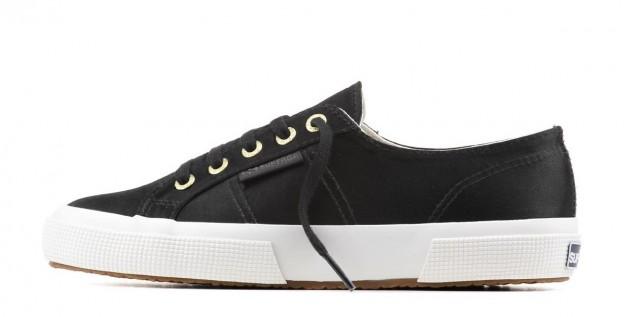 Sneakers in satin nero Superga scarpe autunno inverno 2014 2015