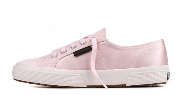 Sneakers in satin rosa Superga scarpe autunno inverno 2014 2015