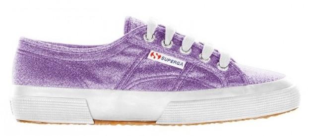 Sneakers lilla lamè Superga scarpe autunno inverno 2014 2015