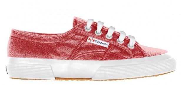 Sneakers rosse lamè Superga scarpe autunno inverno 2014 2015