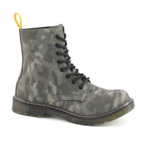 Stivaletto stringato mimetico Cafè Noir scarpe autunno inverno 2014 2015