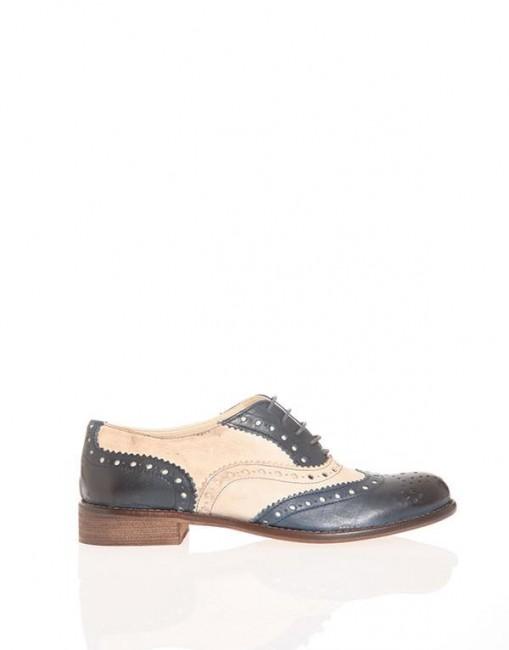 Stringata maschile bicolor Pittarello scarpe autunno inverno 2014 2015
