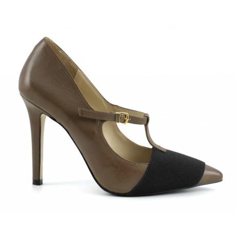 T-bar marroni Cafè Noir scarpe autunno inverno 2014 2015