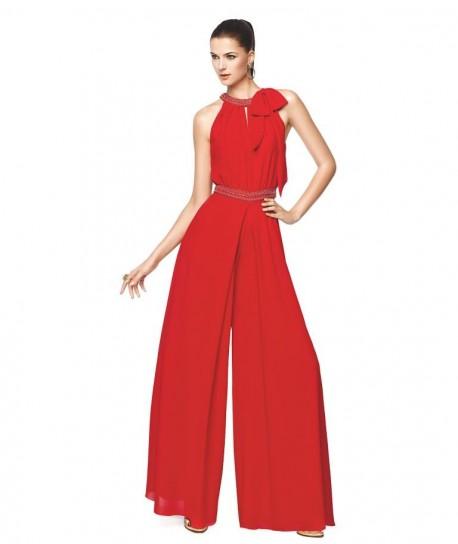 Jumpsuit rosso Pronovias