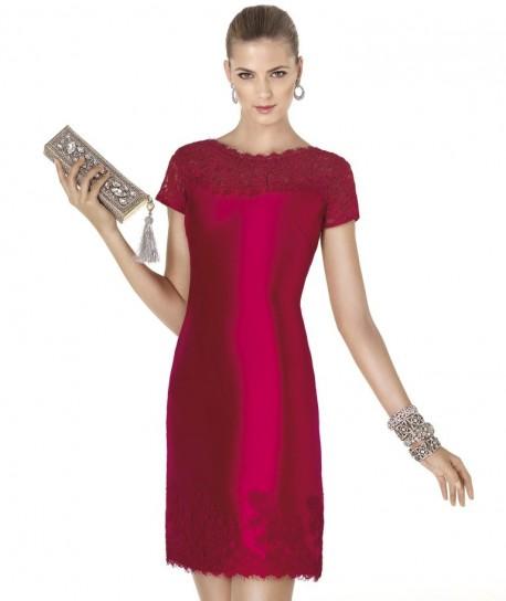 Vestito dritto rosso Pronovias