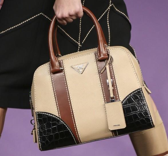 Handbag bicolor Borse Prada primavera estate 2015