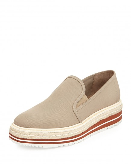 Slip on beige Prada primavera estate 2015