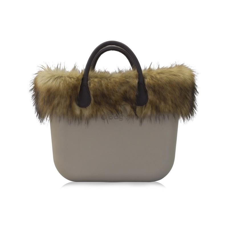 Borsa O bag con pelliccia