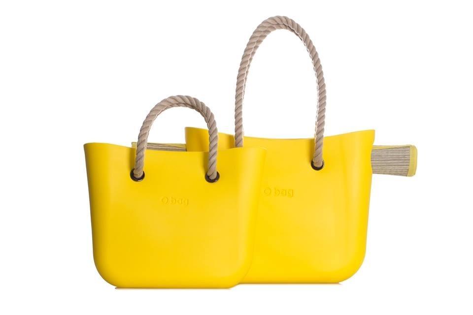 O bag city e spiaggia giallo limone