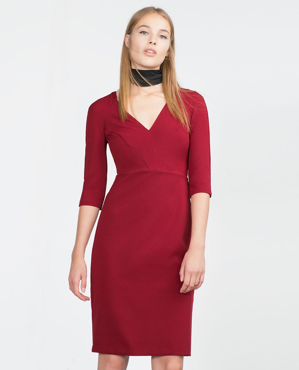 8f91b76c1a10 Rosso Primavera Online Stile Zara EstateModa Abito Con 0Nyv8nwOm