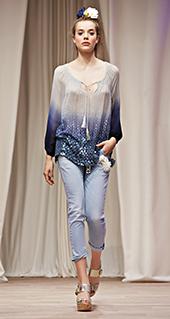 Blusa sfumata Twin Set jeans primavera estate 2016