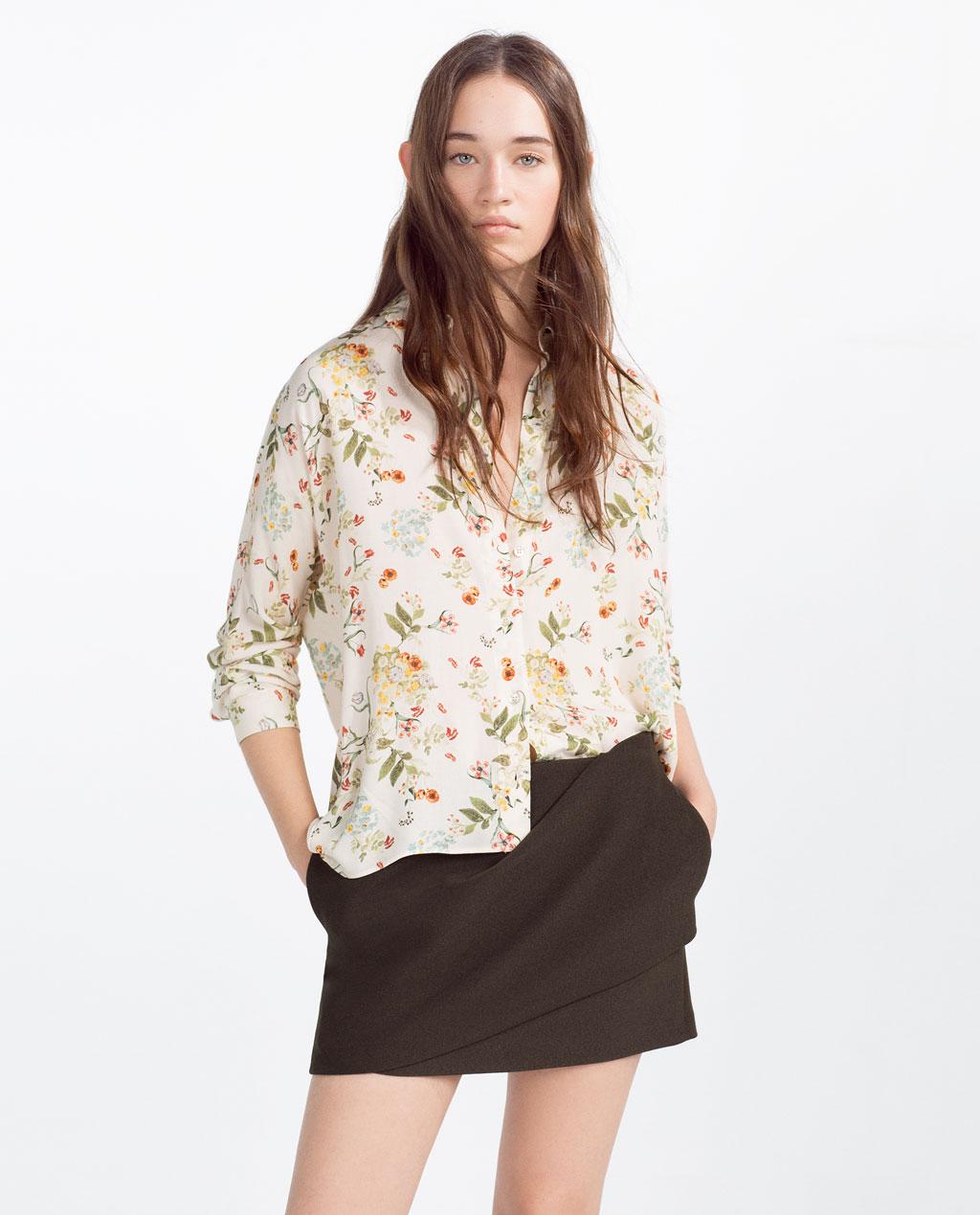 Camicia a fiori zara primavera estate moda con stile online - Fiori da giardino primavera estate ...