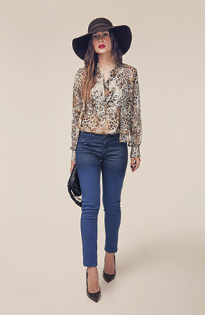 Denny Rose camicia stampa animalier