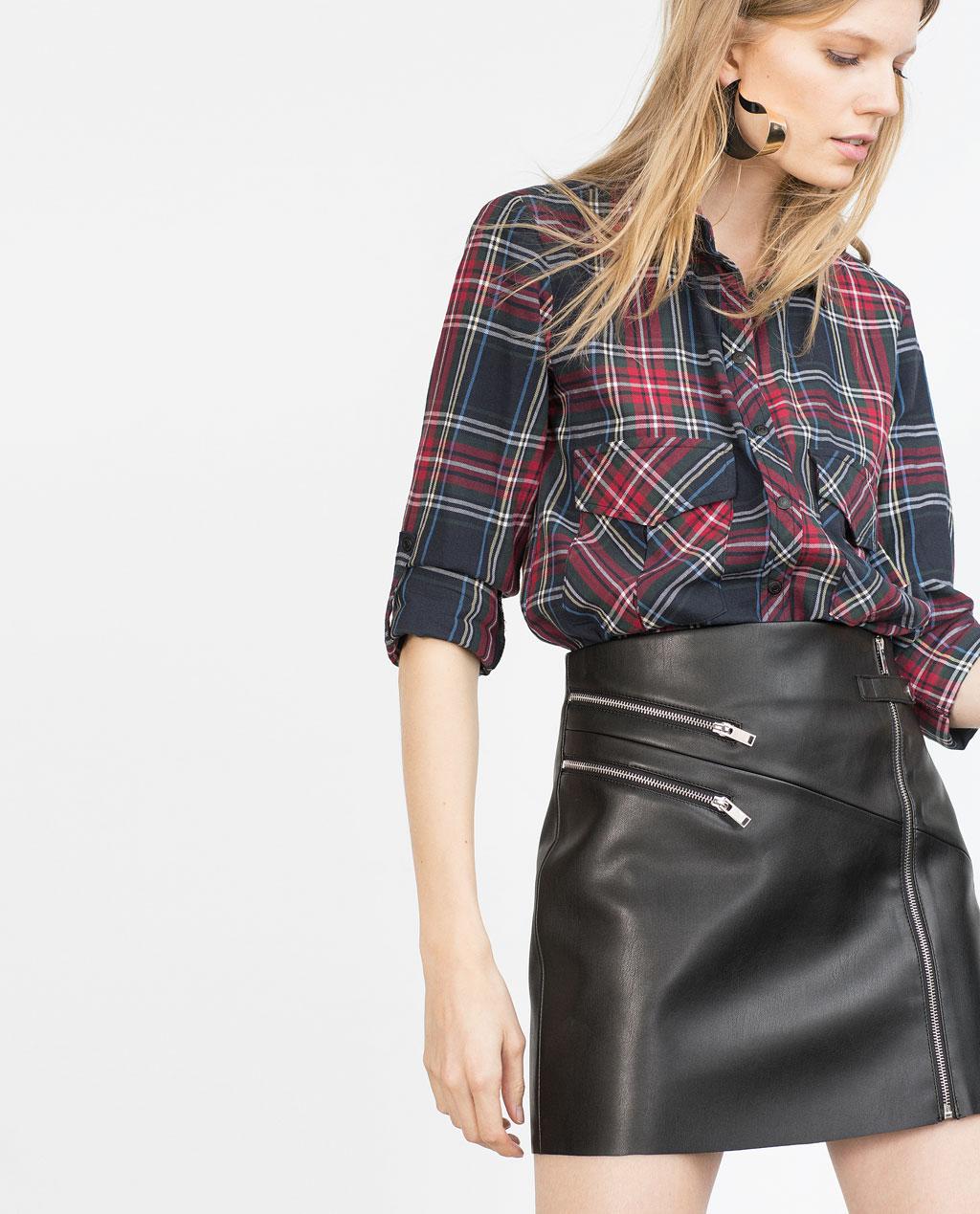 timeless design 8206e 953f4 Zara Pelle Con In Online EstateModa Stile Gonna Primavera ...
