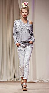 Maglia monospalla Twin Set jeans primavera estate 2016