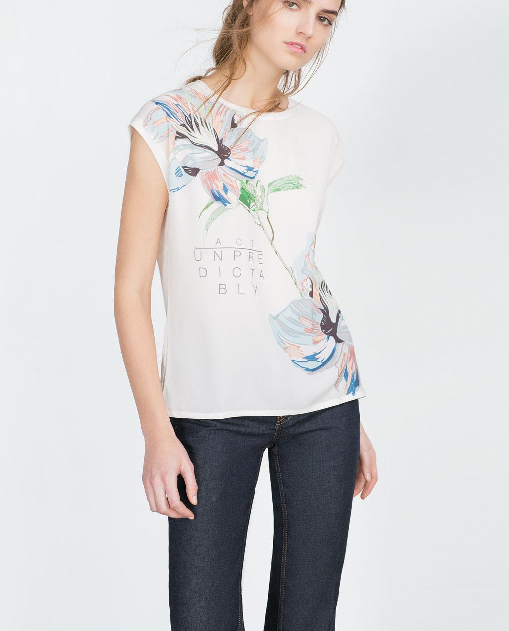 Maglietta fiori zara primavera estate moda con stile online - Fiori da giardino primavera estate ...