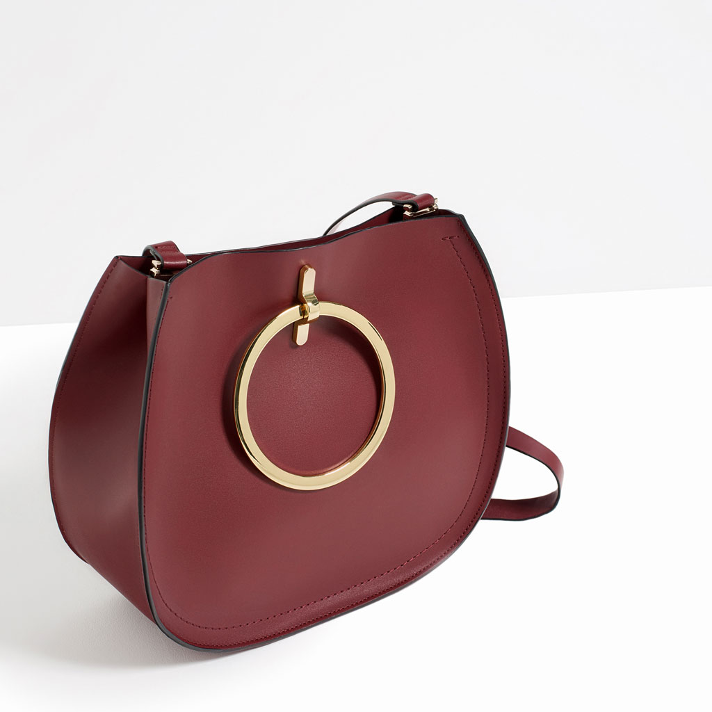 Zara borse primavera estate 2016 shopper con manici metalici