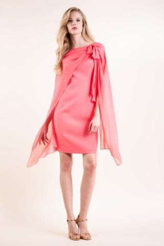 Abito georgette seta rosa Luisa Spagnoli primavera estate 2016