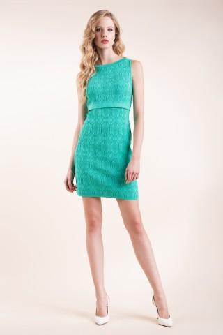 Abito in maglia verde Luisa Spagnoli primavera estate 2016