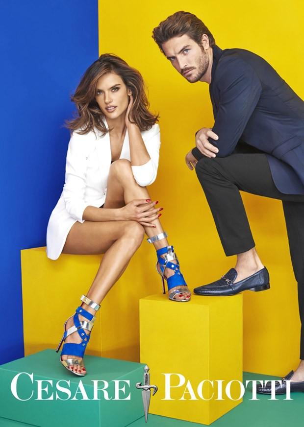 Alessandra Ambrosio per Cesare Paciotti primavera estate 2016 scarpe