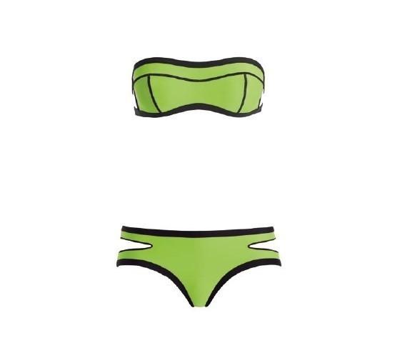 Bikini verde e nero
