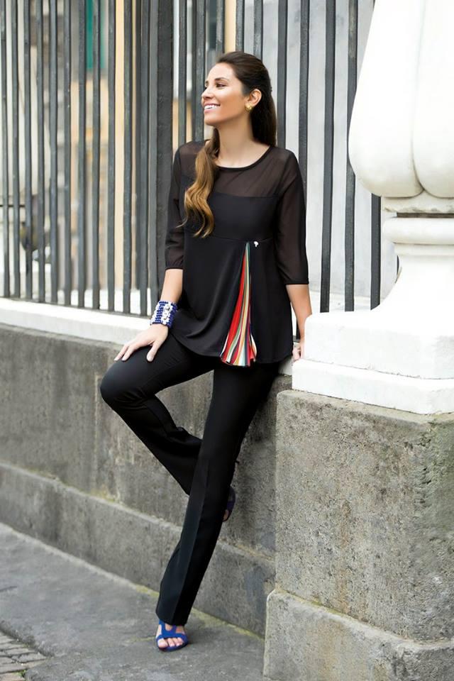Blusa elegante Cannella