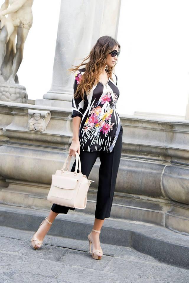 Pantaloni Capri cannella