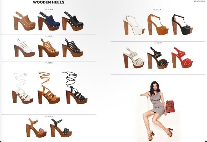 Primadonna sandali con tacco in legno