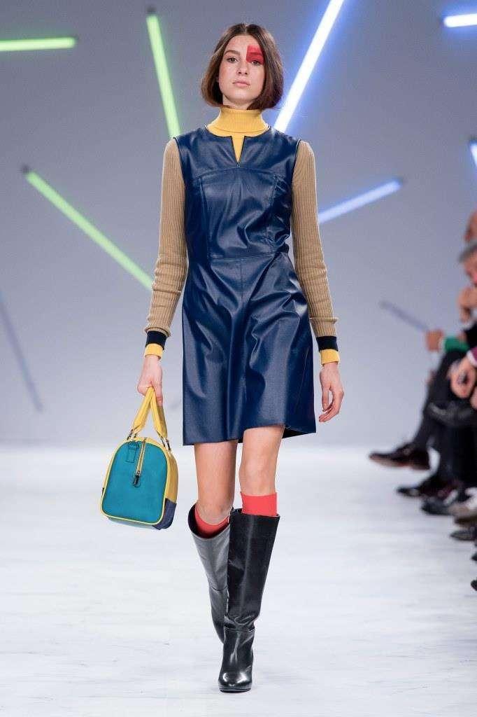 Vestito blu in pelle Benetton