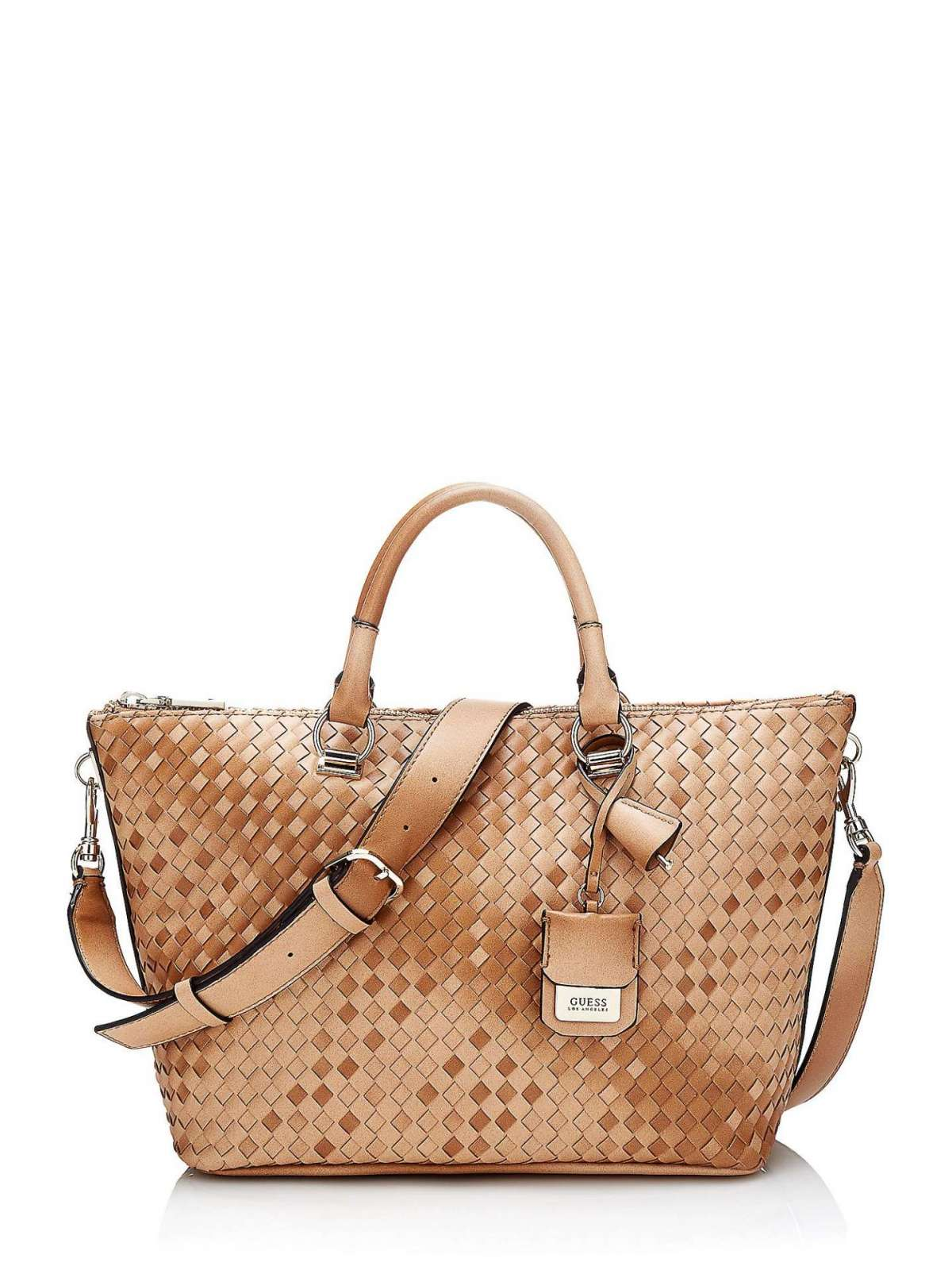 Handbag Intrecciata Cuoio Guess Autunno Inverno 2017