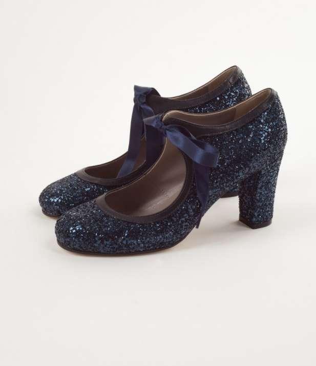 Scarpe Allacciate Blu Glitter Lazzari Autunno Inverno 2017