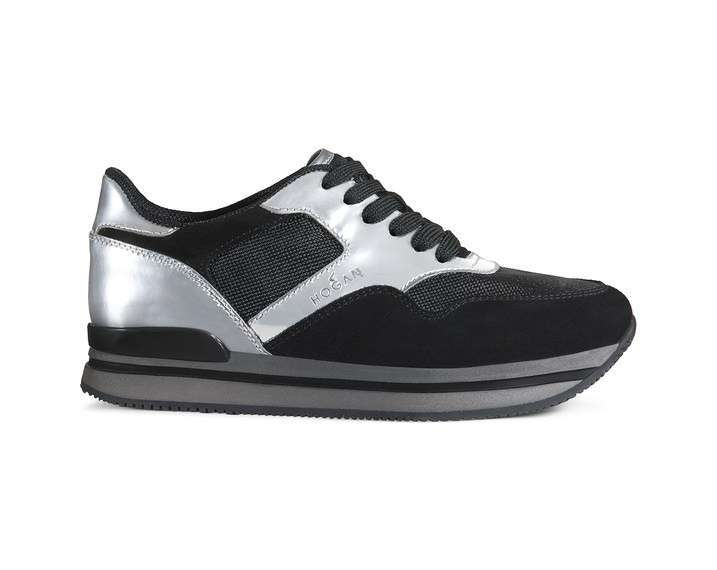 Sneakers Nere E Argento Hogan
