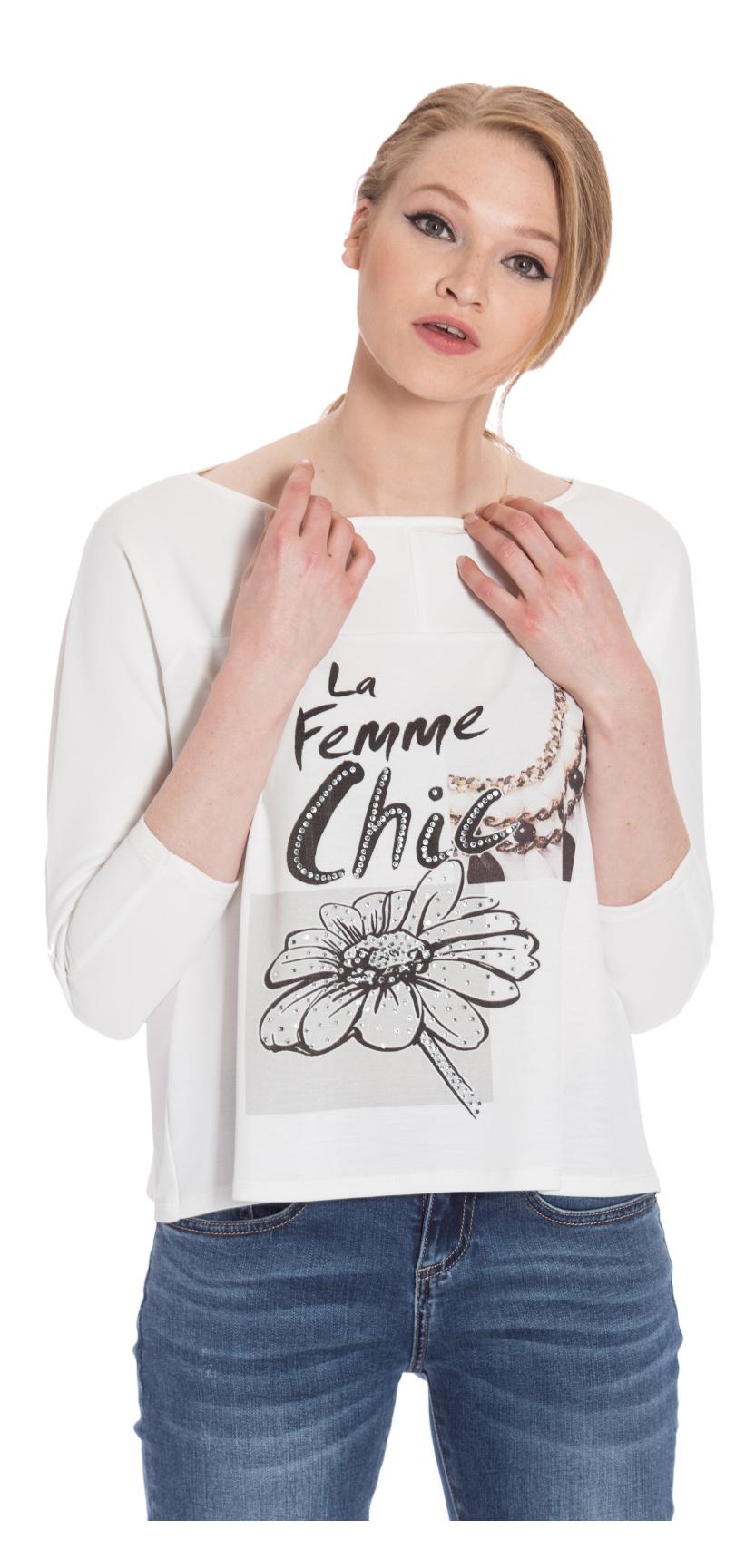T Shirt Con Scritta Camomilla Autunno Inverno 2017