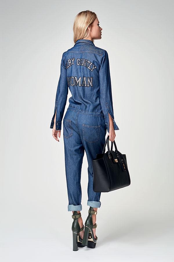 Tuta In Jeans Denny Rose Autunno Inverno 2017