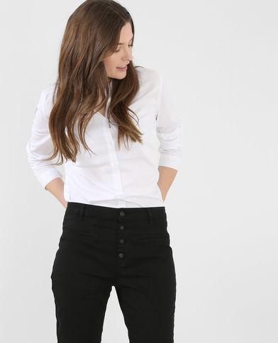 Pimkie Camicia Bianca Con Pantaloni High Waste
