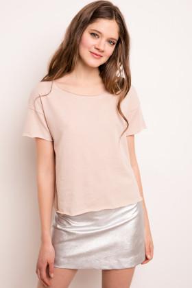 Subdued Mini Gonna Argentata Con T Shirt Rosa Confetto