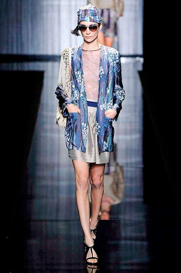 Giacca Stile Kimono Giorgio Armani