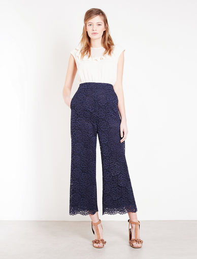 Marella Pantaloni In Pizzo High Waste