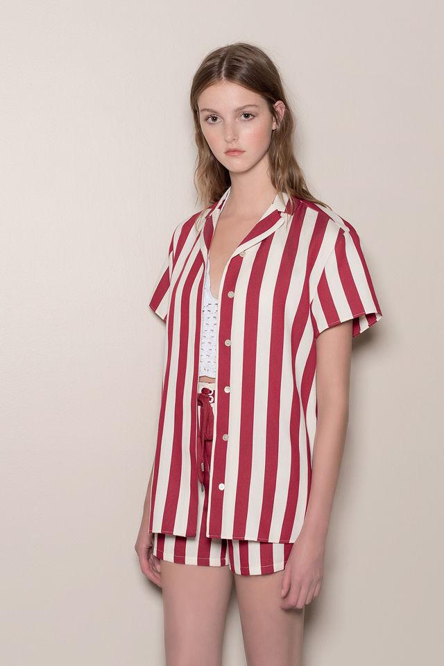 RED Valentino Completo A Righe Rosso E Bianco