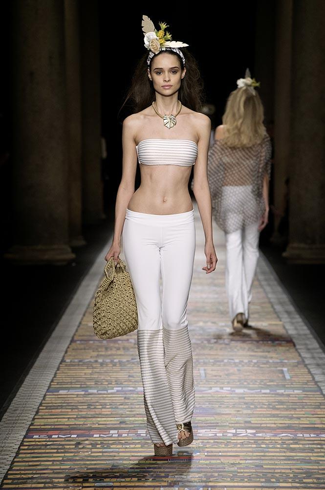 Fisico Costume A Fascia Bianco
