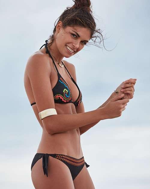 Goldenpoint Bikini Nero Ricamato