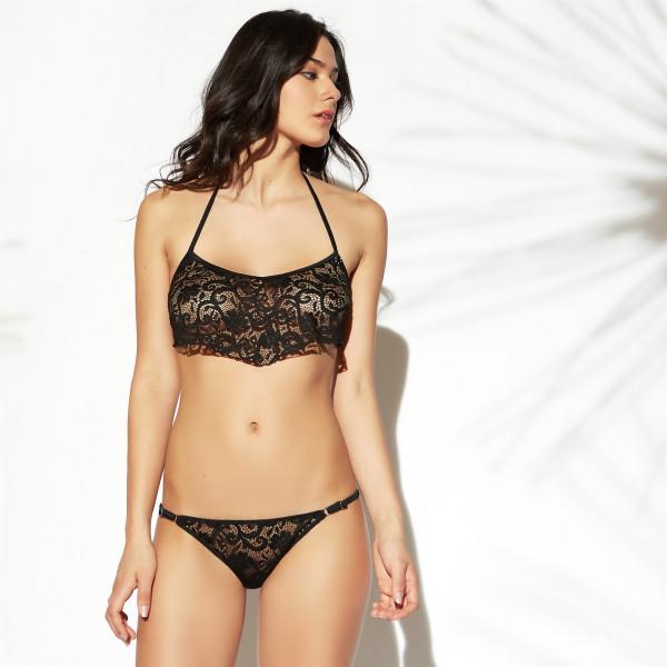Yamamay Bikini Nero In Pizzo