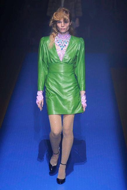 Abito Lucido Verde Gucci